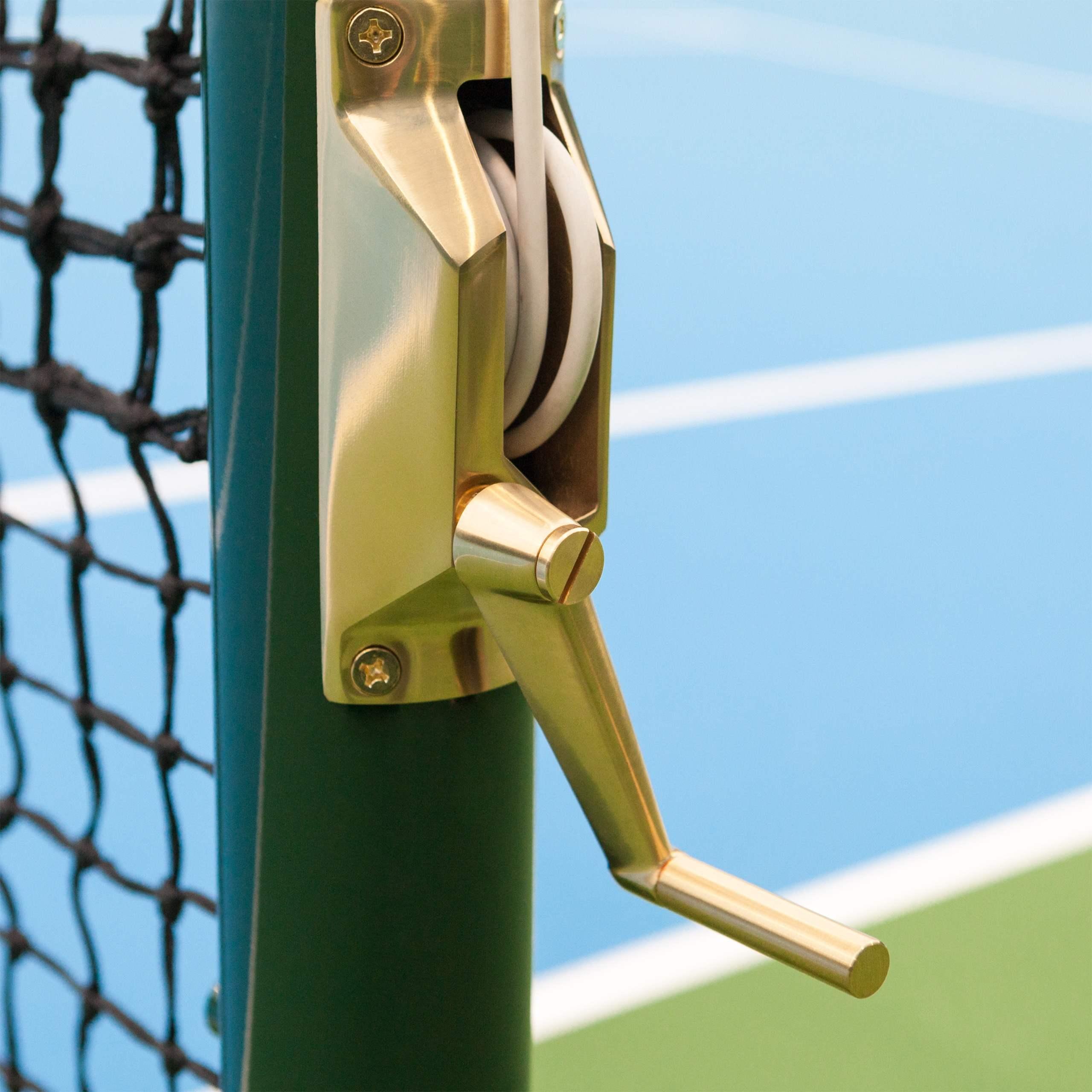 Vermont Round Tennis Post - Brass Winder